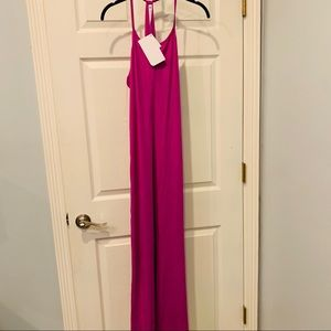 NWT Fabletics Maxi Long Purple Dress